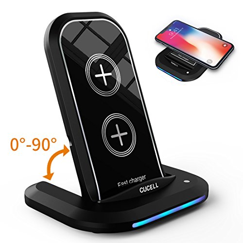 iPhone X Wireless Charger Samsung Galaxy S9 S9 Plus Note8 S8 S8 Plus and all QI-Enabled Devices Turbot 3-Coil QI Wireless Charging Pad Stand for iPhone X iPhone 8 iPhone 8 Plus